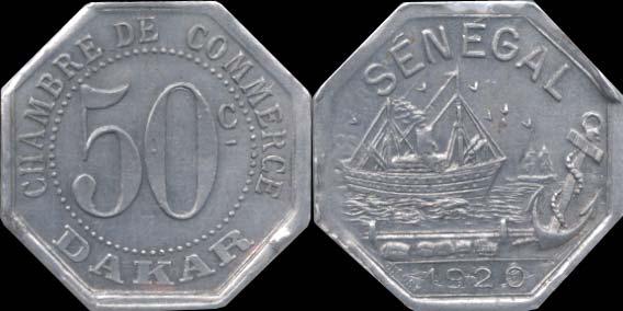 Anciennes monnaies du s n gal afrique occidentale for Chambre de commerce de dakar