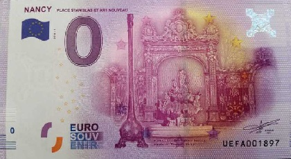 billet 0 euro souvenir Nancy