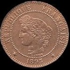 2 centimes 1897 ceres