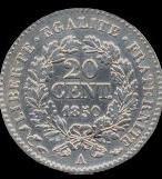 20 centimes Ceres 1849