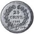 25 centimes louis Philippe 1848