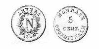 anvers 1814 5 cent