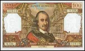 billet de 100 francs corneille