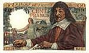 billet de 100 francs descartes 1942