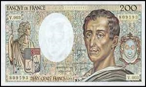 billet de 200 francs montesquieu