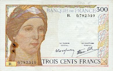 billet de 300 francs clement serveau