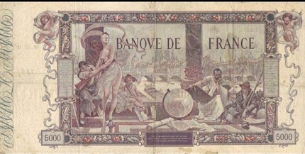 billet de 5000 francs flameng 1918
