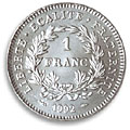 1 franc commemorative 1992