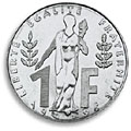 1 franc commemorative 1996
