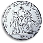 5 francs commemorative 1996