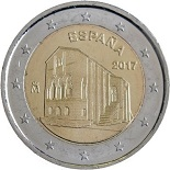 2-euros-commemorative-2017-espagne-santa-maria bailique