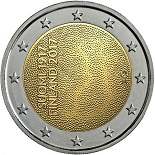 2-euros-commemorative-2017-finlande-100-ans-suomi capital
