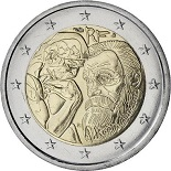 2-euros-commemorative-2017-france-rodin commémorative