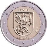 2-euros-commemorative-2017-lettonie-latgale gand
