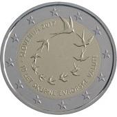 2-euros-commemorative-2017-slovenie-10-ans trèves