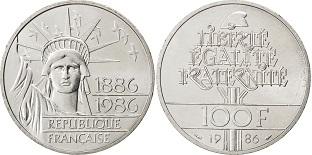 100 Francs 1986 Liberte