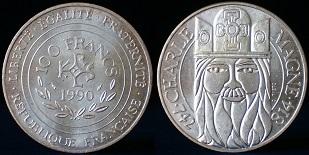 100 Francs 1990 Charlemagne Commemorative