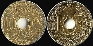 FRANCE  25 centimes  LINDAUER .1939 etat points avant et aprés la date