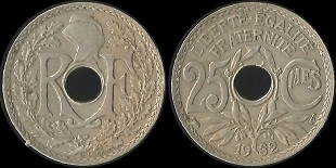 piece de monnaie percee