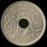 25 centimes 1938 Lindauer maillechort