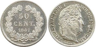 50 centimes Louis-Philippe 1845-1848