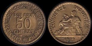 50 centimes chambres de commerce bon pour 50 centimes for Bon pour 1 franc chambre de commerce