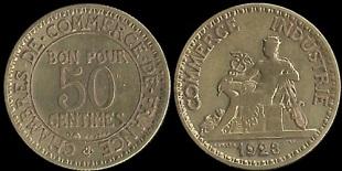 50 centimes chambres de commerce bon pour 50 centimes for Chambre de commerce de france bon pour 2 francs 1923