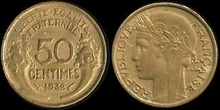 piece de monnaie 50 centimes 1931