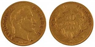 10 francs or napol on iii 1862 1868. Black Bedroom Furniture Sets. Home Design Ideas