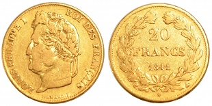 20 francs or louis philippe 1832 1848. Black Bedroom Furniture Sets. Home Design Ideas