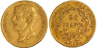 Piece 20 Francs Or Napoleon Louis D Or