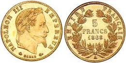 5 francs or napol on iii 1862 1868. Black Bedroom Furniture Sets. Home Design Ideas