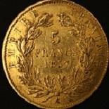 5 francs or napol on iii 1855 1860. Black Bedroom Furniture Sets. Home Design Ideas