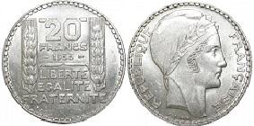 20 Francs Argent Turin 1929 1939