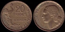 piece de monnaie 20 francs 1951