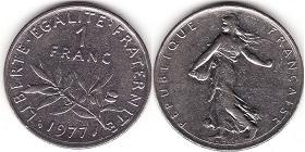 1 Franc Semeuse 1960 2001