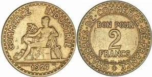 1 franc chambres de commerce bon pour 1 franc 1920 1927 for Bon pour 1 franc chambre de commerce