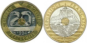 20 francs Mont Saint-Michel 1992-2001