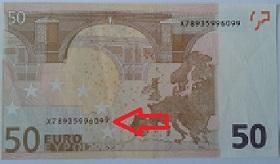 billet de banque tache