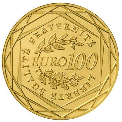 100 Euros Semeuse OR 2010 (envers)