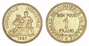 Monnaies de n cessit les jetons monnaie et bons de commerce for Bon pour 1 franc chambre de commerce