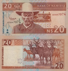 billet de banque namibie