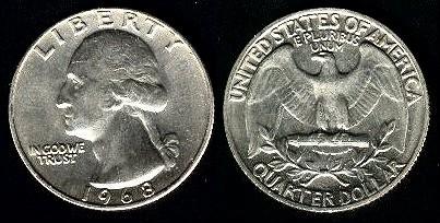 Les Pi 232 Ces Quarter Dollar Usa