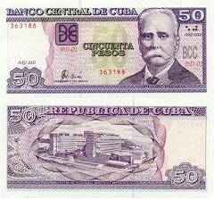 billet de 3 pesos cubain