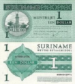 Billet de 1 dollar 2004 Suriname