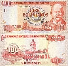 billet de 100 bolivianos 1986 Bolivie