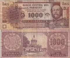 billet 1000 guaranies 2005 Paraguay