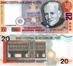 billet de 20 nuevos soles 2006 Pérou