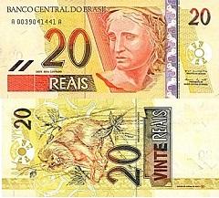 billet de 20 reais 2002 Brésil