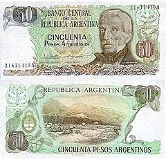 Billet de 50 pesos 1983 Argentine